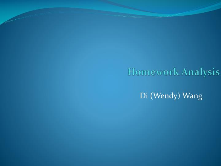 Homework analysis
