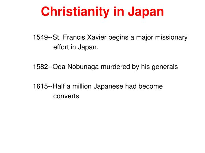 Christianity in Japan