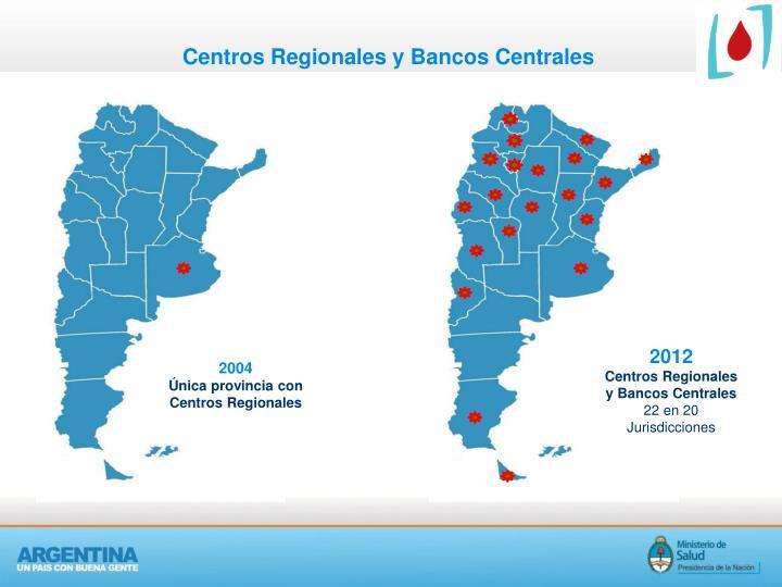 Centros Regionales y Bancos Centrales
