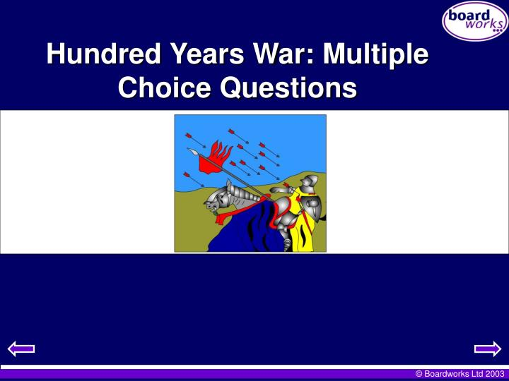 Hundred Years War: Multiple Choice Questions