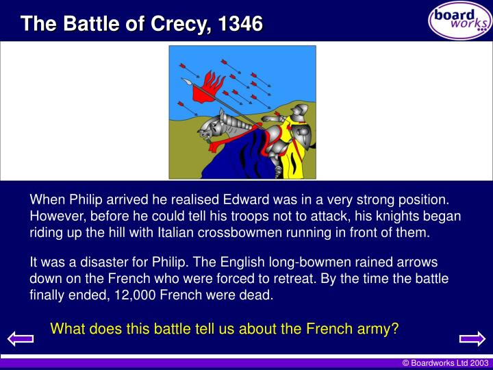 The Battle of Crecy, 1346