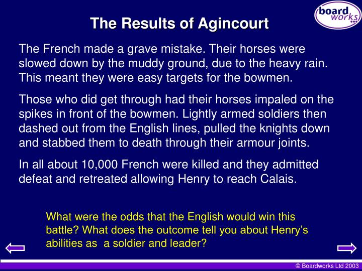 The Results of Agincourt