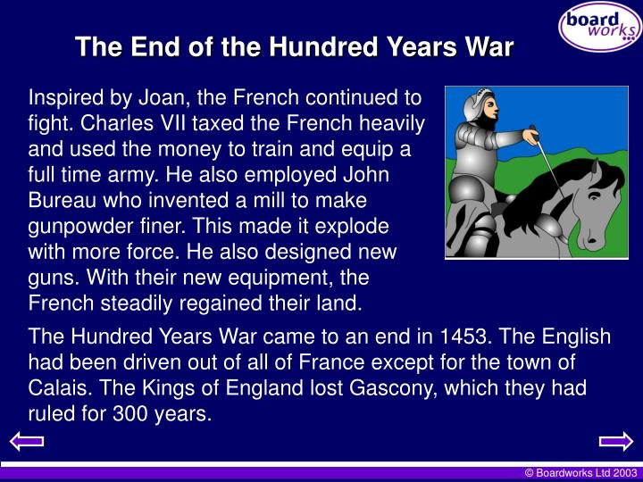 The End of the Hundred Years War