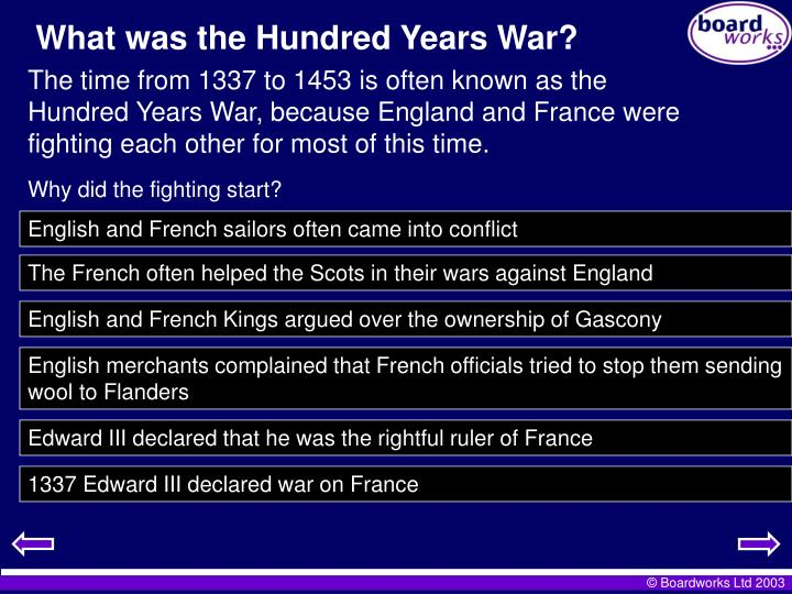 What was the Hundred Years War?