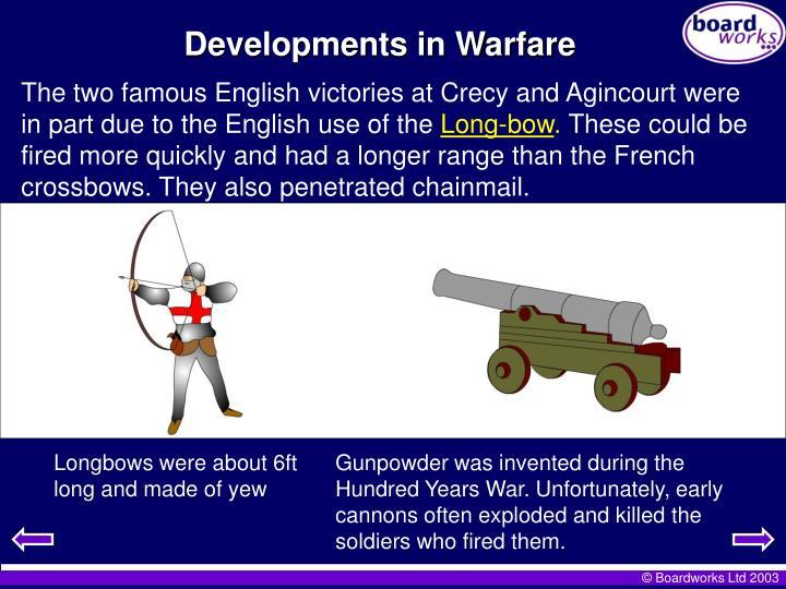 Developments in Warfare
