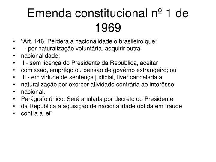 Emenda constitucional nº 1 de 1969