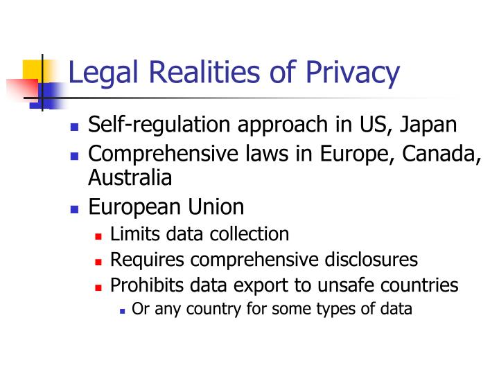 Legal Realities of Privacy