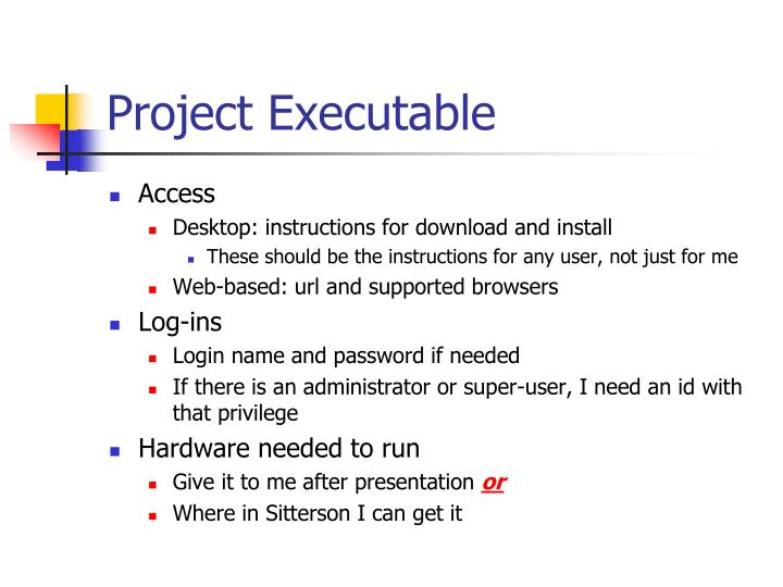 Project Executable