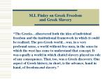 m i finley on greek freedom and greek slavery