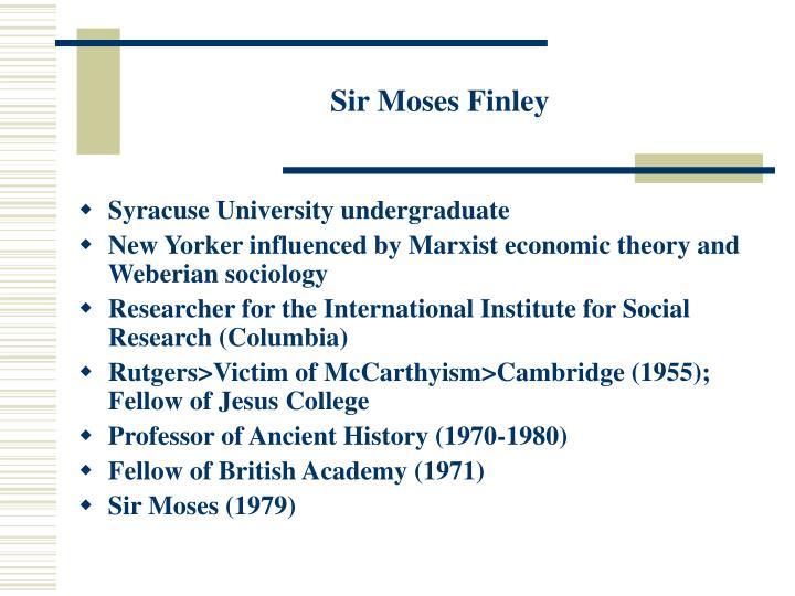 Sir Moses Finley