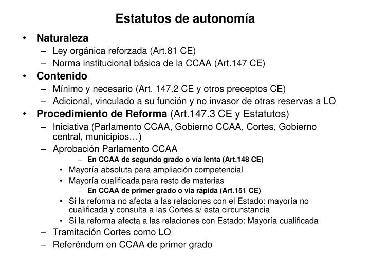 Estatutos de autonomía