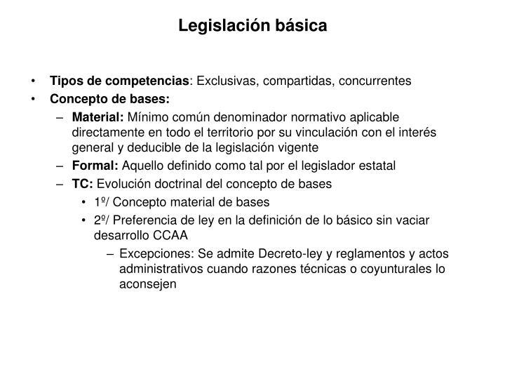 Legislación básica