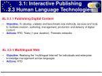 3 1 interactive publishing 3 3 human language technologies