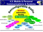 4 5 mobile personal communications systems