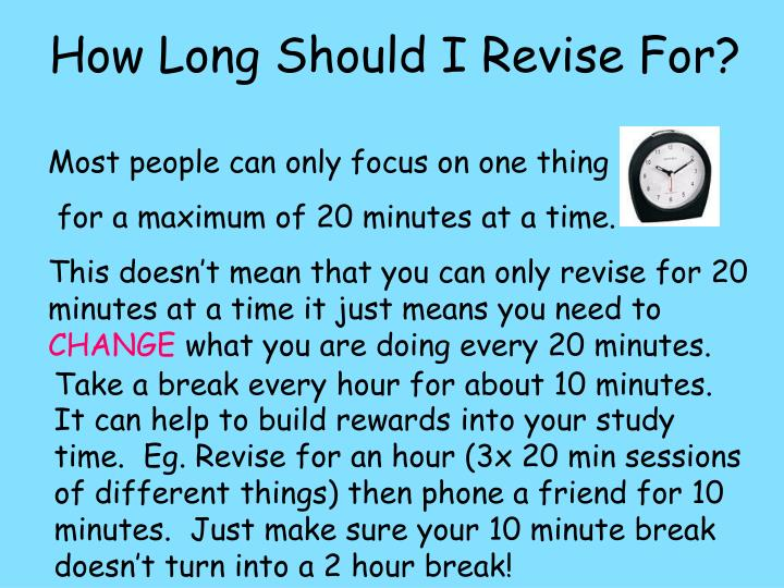 How Long Should I Revise For?