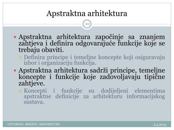 Apstraktna arhitektura