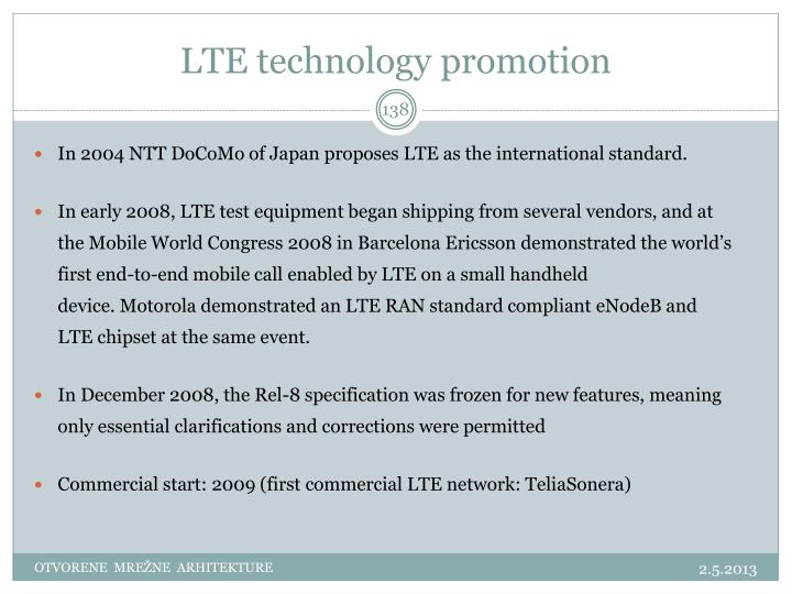 LTE technology promotion