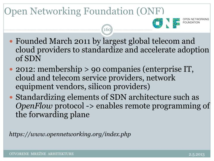Open Networking Foundation (ONF)