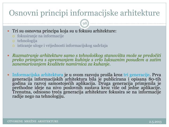 Osnovni principi informacijske arhitekture