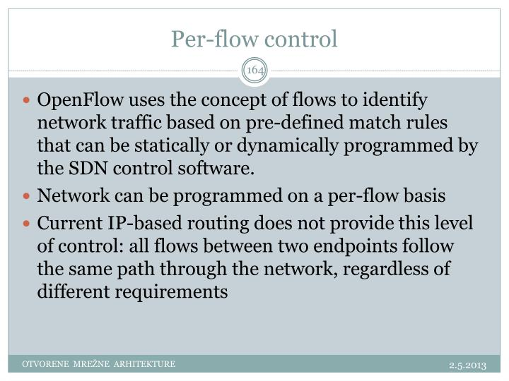 Per-flow control