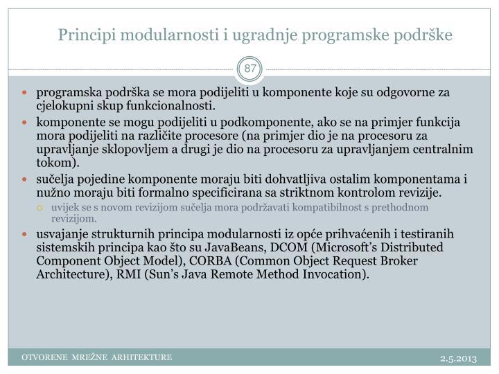 Principi modularnosti i ugradnje programske podrške