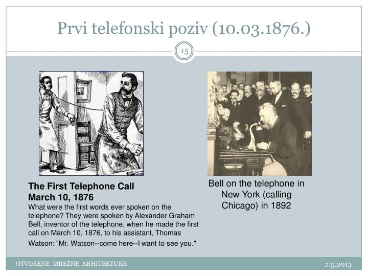 Prvi telefonski poziv (10.03.1876.)