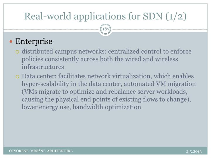 Real-world applications for SDN (1/2)