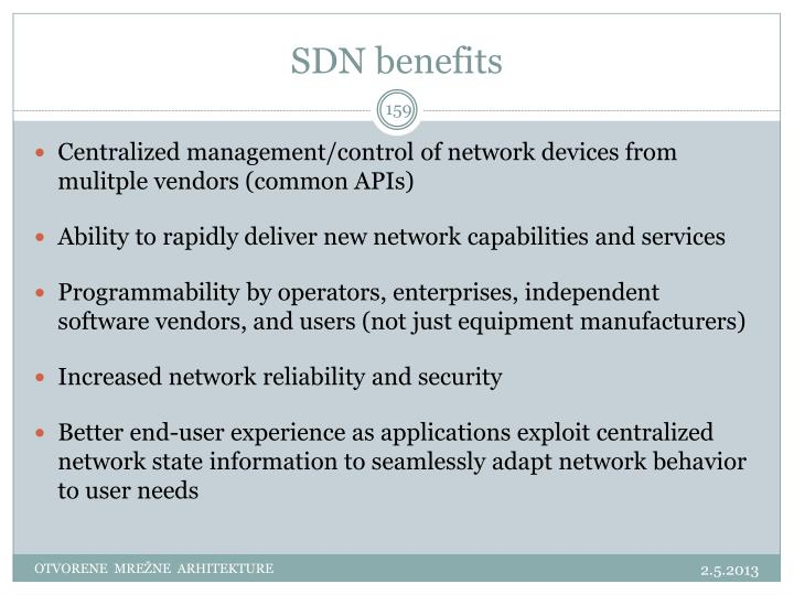 SDN benefits
