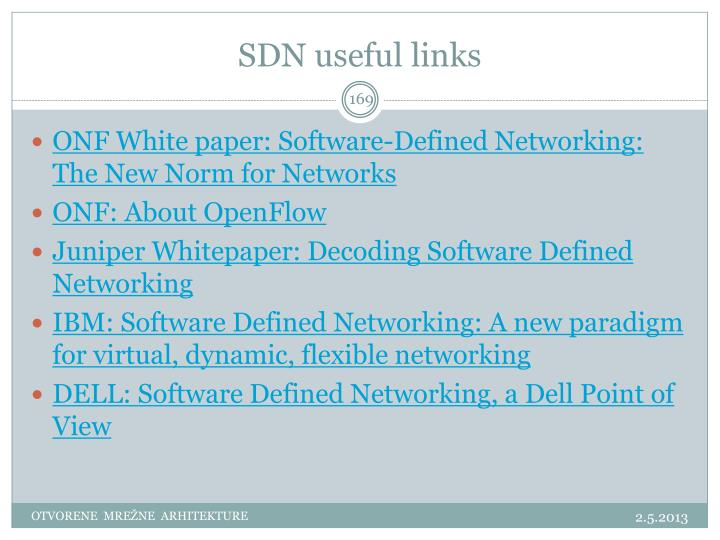 SDN useful links