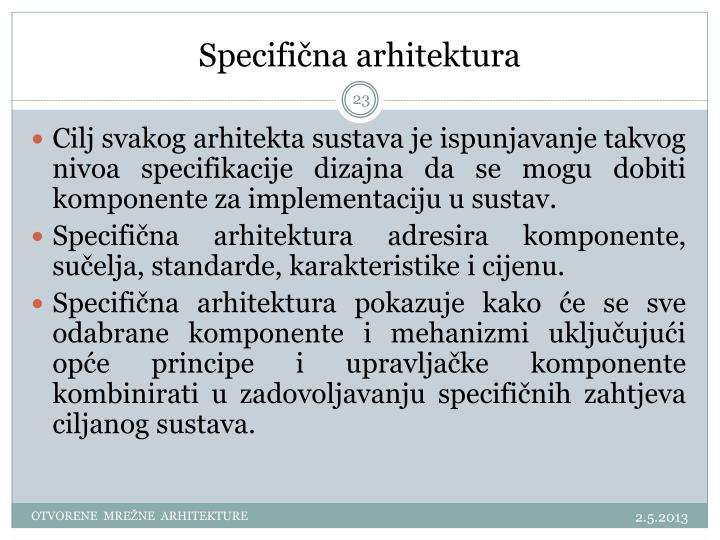 Specifična arhitektura