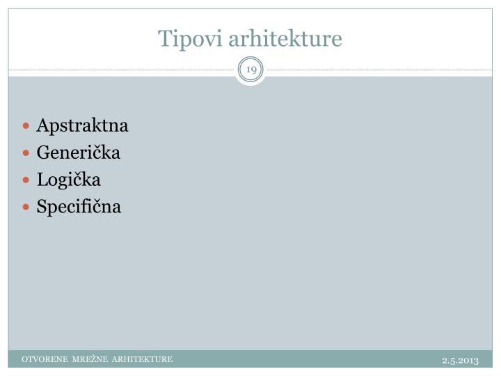 Tipovi arhitekture