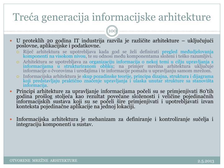 Treća generacija informacijske arhitekture