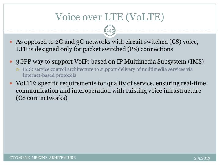 Voice over LTE (VoLTE)