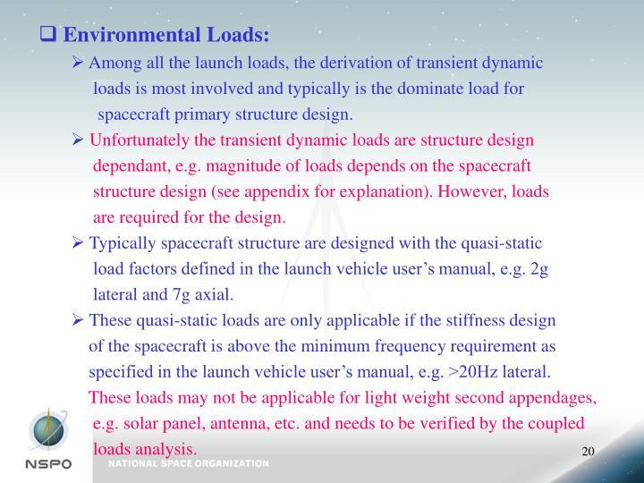 Environmental Loads: