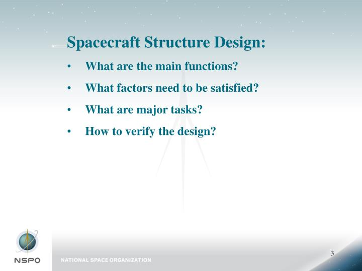 Spacecraft Structure Design: