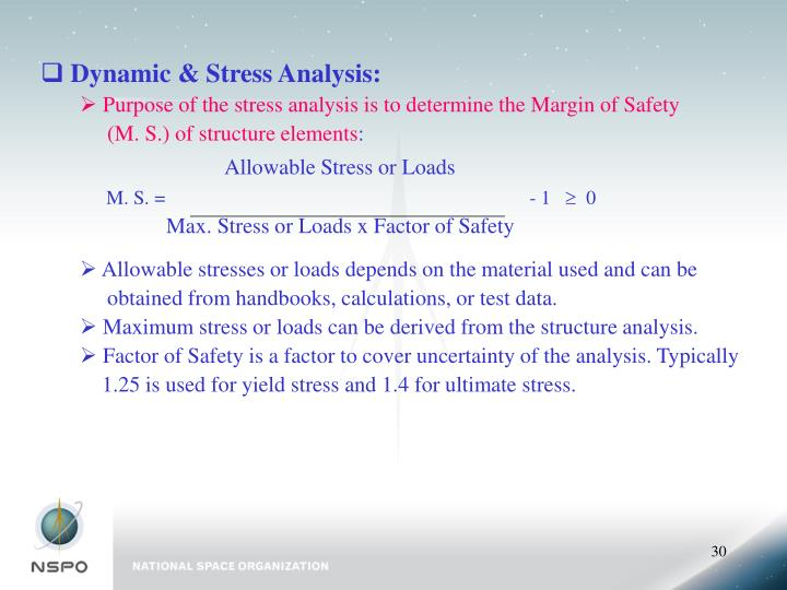 Dynamic & Stress Analysis:
