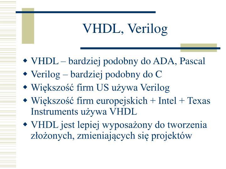VHDL, Verilog