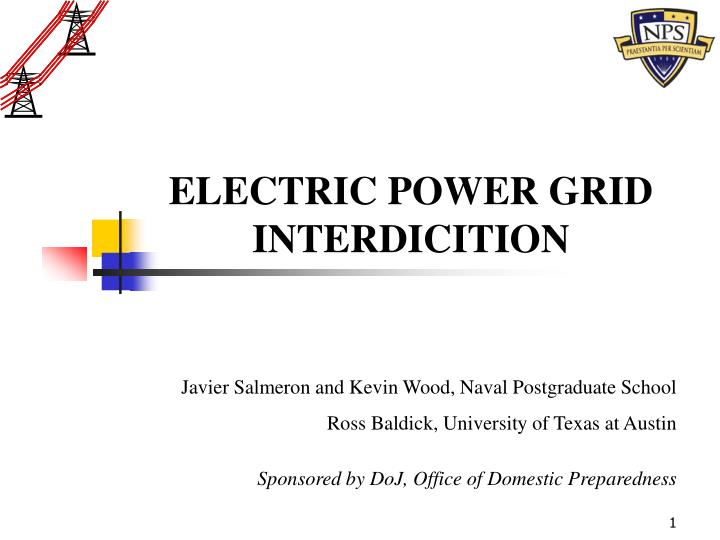 ELECTRIC POWER GRID INTERDICITION