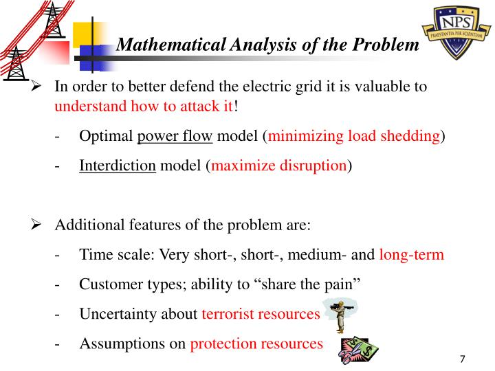 Mathematical Analysis of the Problem