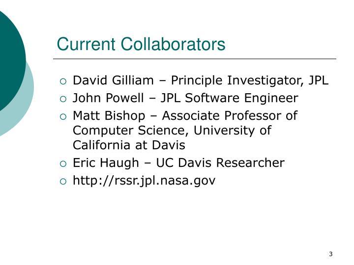 Current Collaborators