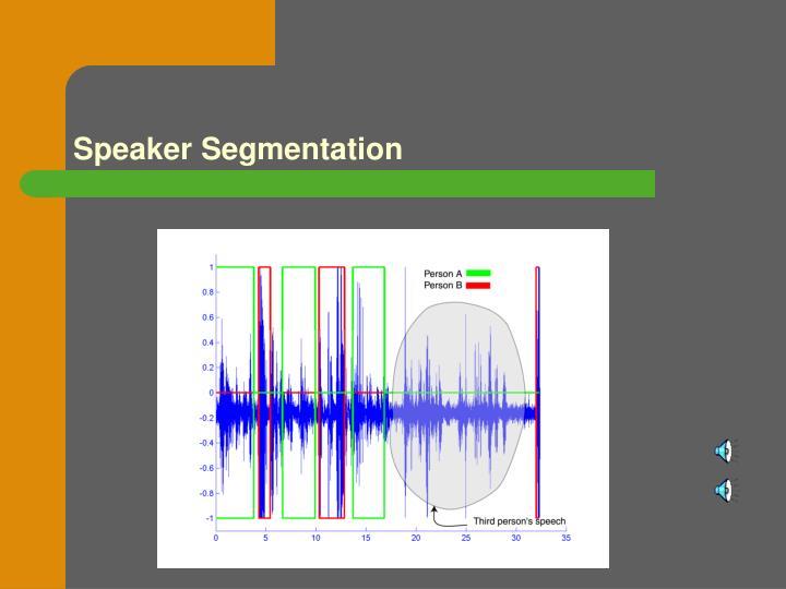 Speaker Segmentation