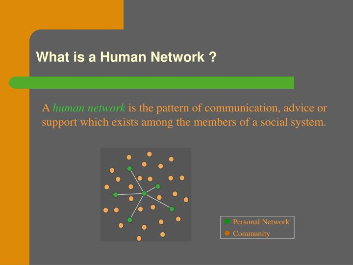 What is a human network