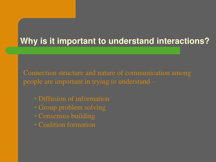 Why is it important to understand interactions?