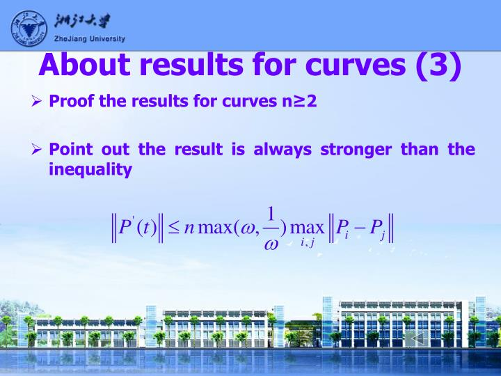 About results for curves (3)