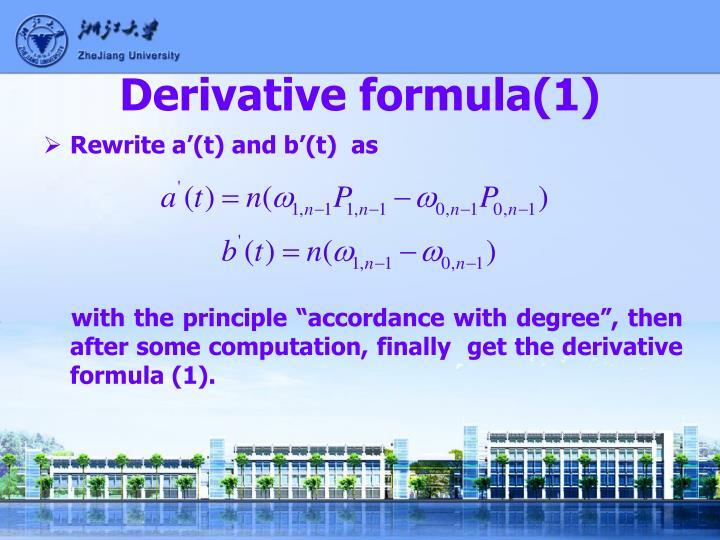 Derivative formula(1)
