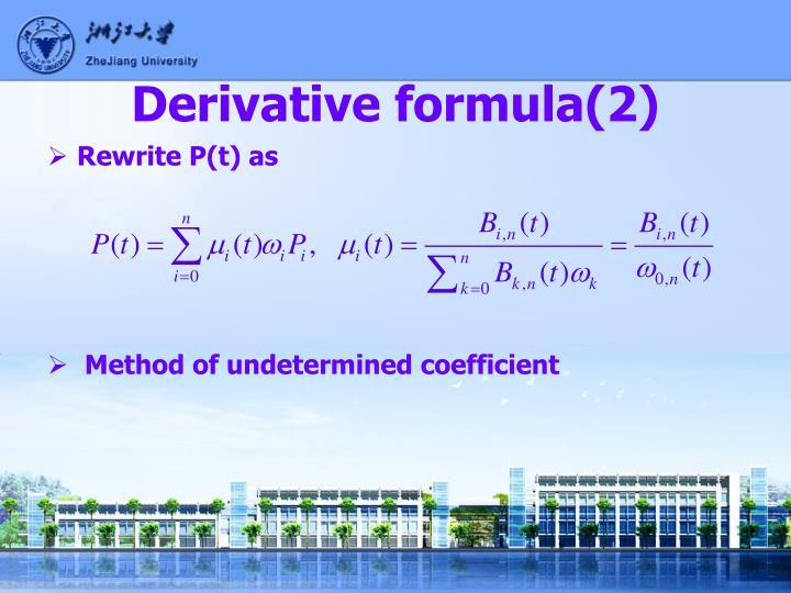 Derivative formula(2)