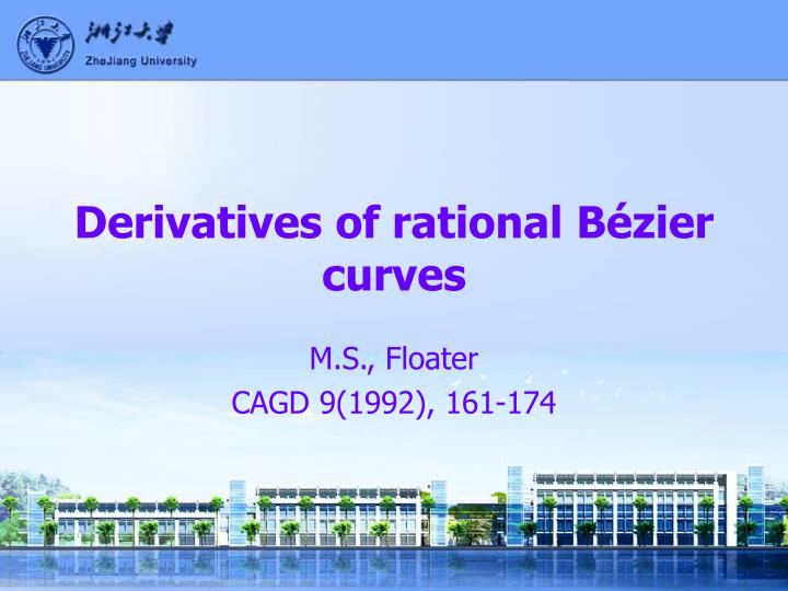 Derivatives of rational