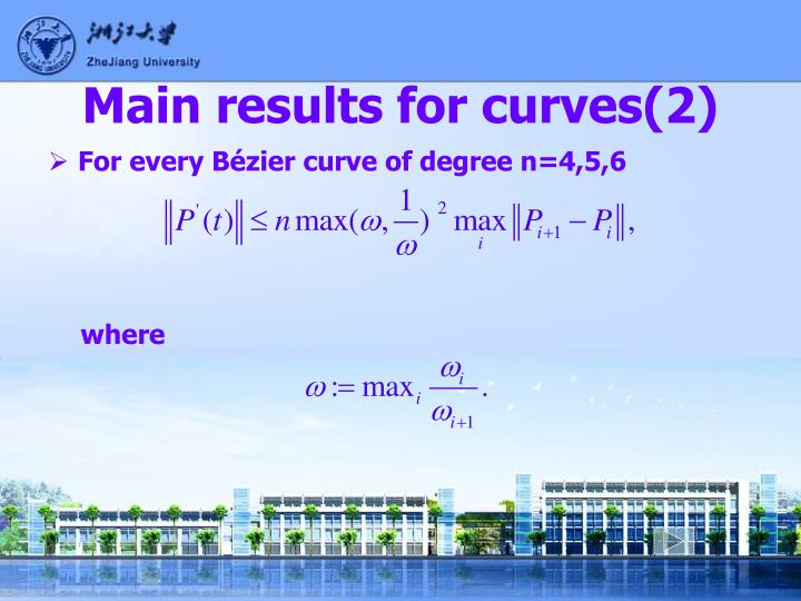 Main results for curves(2)