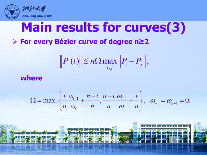 Main results for curves(3)