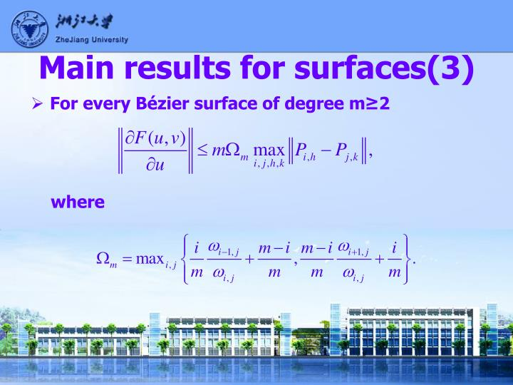 Main results for surfaces(3)